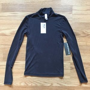 American Apparel fitted brushed jersey turtleneck